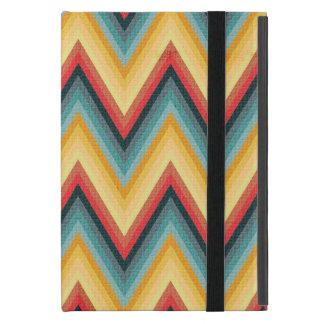 Zig Zag Striped Background 2 Cases For iPad Mini