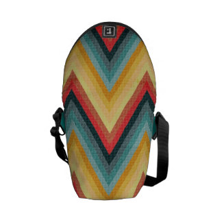 Zig Zag Striped Background 2 Commuter Bag