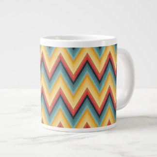 Zig Zag Striped Background 2 Giant Coffee Mug