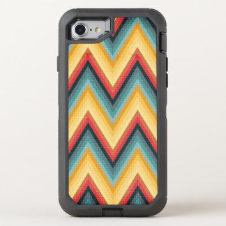 Zig Zag Striped Background 2 OtterBox Defender iPhone 8/7 Case