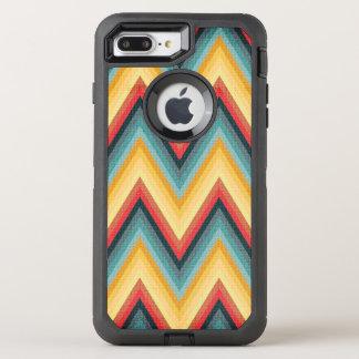 Zig Zag Striped Background 2 OtterBox Defender iPhone 8 Plus/7 Plus Case