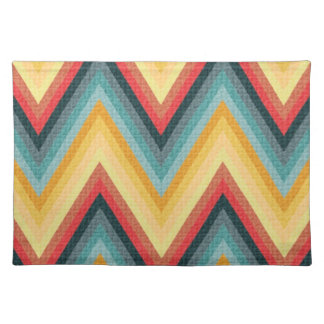 Zig Zag Striped Background 2 Placemat