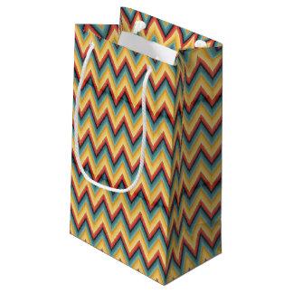 Zig Zag Striped Background 2 Small Gift Bag