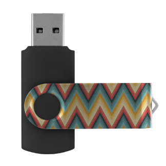 Zig Zag Striped Background 2 USB Flash Drive