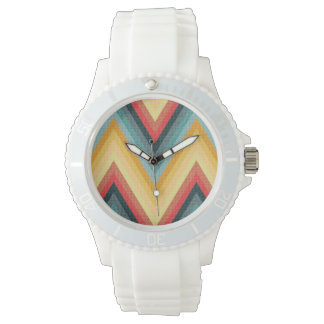 Zig Zag Striped Background 2 Wrist Watches