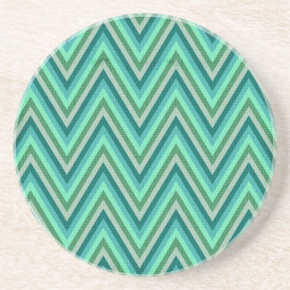 Zig Zag Striped Background Beverage Coasters