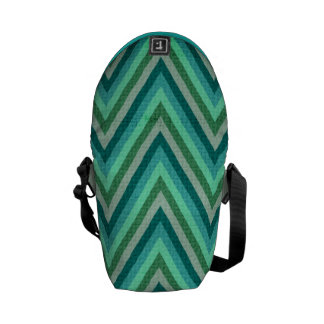Zig Zag Striped Background Commuter Bag