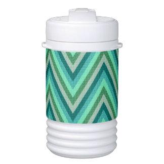 Zig Zag Striped Background Drinks Cooler