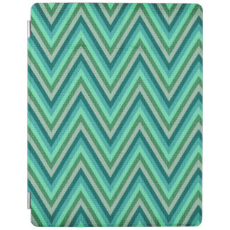 Zig Zag Striped Background iPad Cover