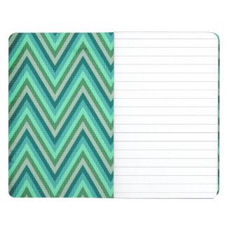 Zig Zag Striped Background Journal