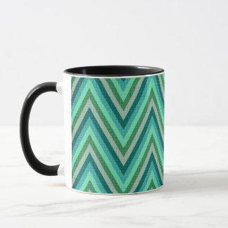 Zig Zag Striped Background Mug