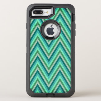 Zig Zag Striped Background OtterBox Defender iPhone 8 Plus/7 Plus Case