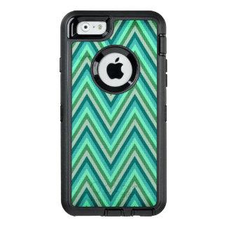 Zig Zag Striped Background OtterBox Defender iPhone Case