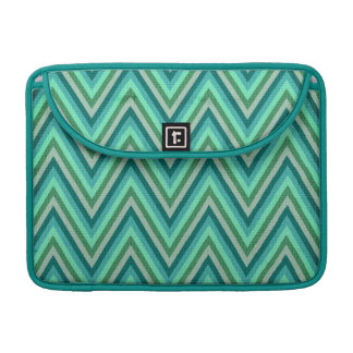 Zig Zag Striped Background Sleeve For MacBooks