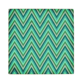 Zig Zag Striped Background Wood Coaster