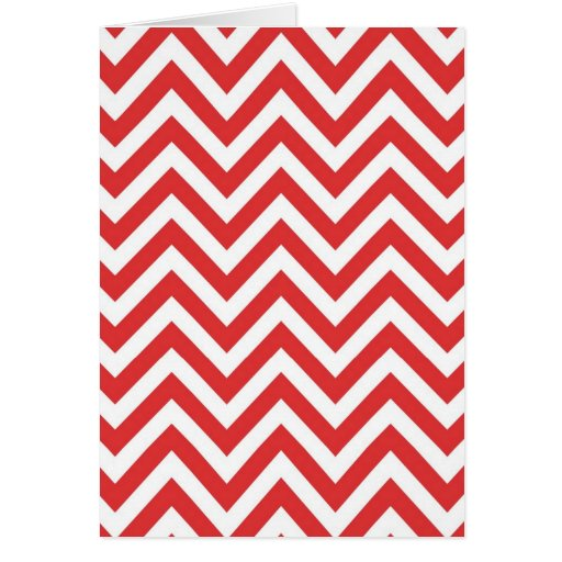 Zig Zag Striped Red White Pattern Qpc Template Cards