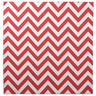 Zig Zag Striped Red White Pattern Qpc Template Cloth Napkin