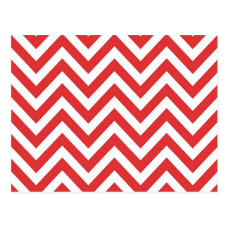 Zig Zag Striped Red White Pattern Qpc Template Post Cards