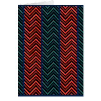 Zig Zag Stripes Greeting Card