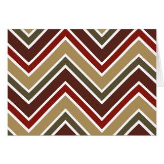 Zig zag stripes pattern cards