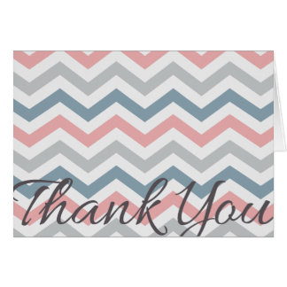 Zig Zag Thank You Pink Greeting Card