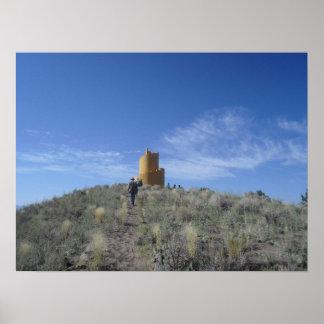 Ziggurat Crestone Colorado Poster