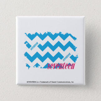 ZigZag Aqua 3 15 Cm Square Badge