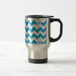 ZigZag Aqua Travel Mug