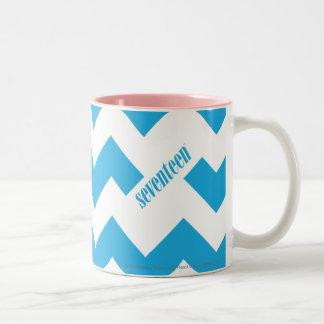 ZigZag Aqua Two-Tone Coffee Mug