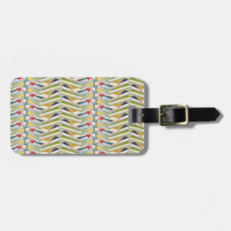 ZigZag Book Stacks Luggage Tag