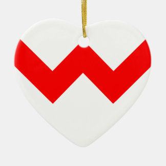 ZigZag Ceramic Heart Decoration