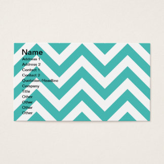 Zigzag Chevron Pattern in light blue Business Card