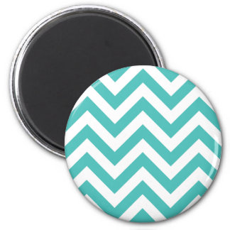 Zigzag Chevron Pattern in light blue Magnet