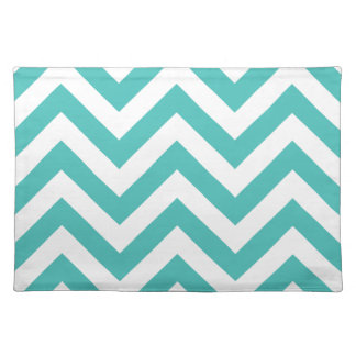 Zigzag Chevron Pattern in light blue Placemat