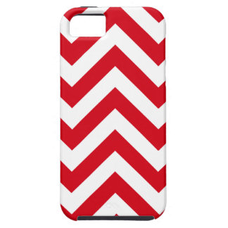 Zigzag Chevron Pattern in red color Case For The iPhone 5