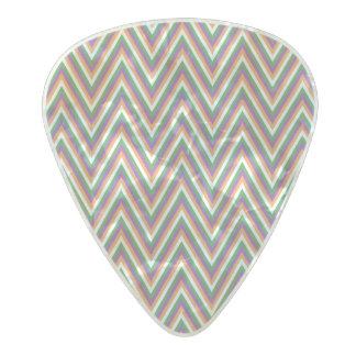 Zigzag Chevron Pattern Pearl Celluloid Guitar Pick