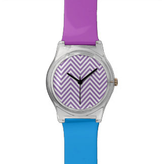 ZIGZAG | chevron white and any color Watch