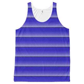 zigzag Custom All-Over Printed Unisex Tank All-Over Print Tank Top
