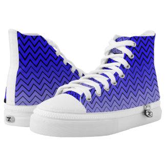 Zigzag Custom Zipz High Top Shoes, US Men 4 / US W Printed Shoes
