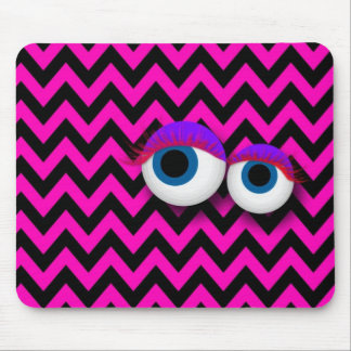 ZigZag eye Monster propellant-actuated device: pin Mouse Pad