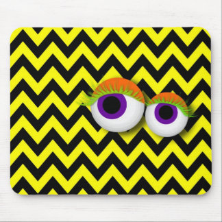 ZigZag eye Monster propellant-actuated device: yel Mouse Pad
