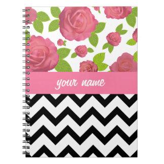Zigzag & Floral Mixed Prints Notebook