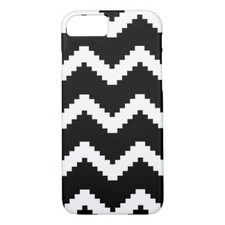 Zigzag geometric pattern - black and white. iPhone 8/7 case