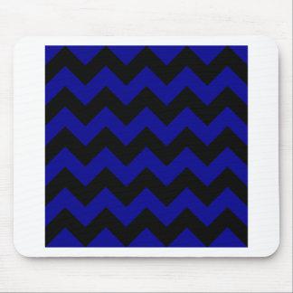 Zigzag I - Black and Dark Blue Mousepad