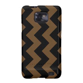 Zigzag I - Black and Dark Brown Samsung Galaxy SII Covers