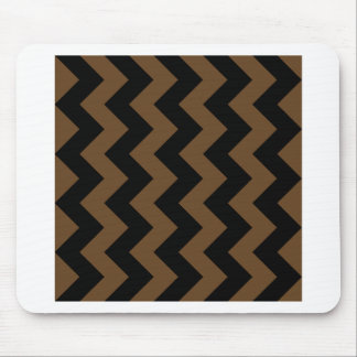 Zigzag I - Black and Dark Brown Mousepads