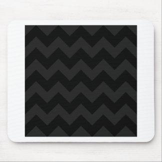 Zigzag I - Black and Dark Gray Mousepad