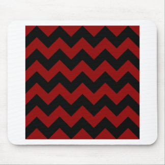 Zigzag I - Black and Dark Red Mousepads