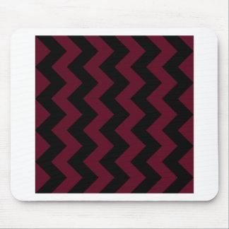 Zigzag I - Black and Dark Scarlet Mouse Pad