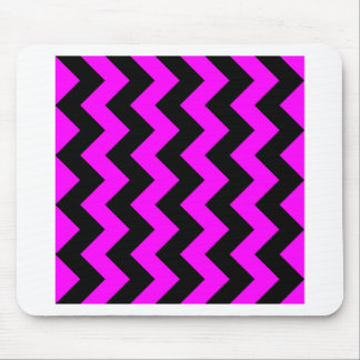 Zigzag I - Black and Fuchsia Mousepads